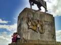 Monument on the hill overlooking Popayan