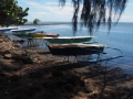 Outrigger canoes